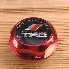 New TRD logo Engine Oil Filler Cap Made of Billet Aluminum Red Fit JAPAN CAR