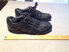 SKECHERS 64276 Men's Leather Bicycle Toe Lace Up Sneakers Shoes US 8 Black