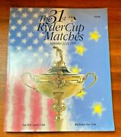 The 31st Ryder Cup Golf Matches Magazine Oak Hill Country Club 1995