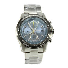 Seiko Criteria SNDC59 P1 Silver Blue Dial Men's Chronograph Quartz Watch