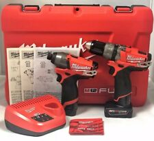 Milwaukee M12 12V Li-Ion 2-Tool Combo Kit 2597-22 - NEW