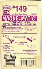 Kadee Couplers #149 Long Overset Shank - 2 pair in packet ( see Photo Magnifier)