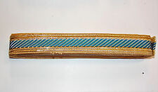 turquoise gold jacquard embroidered ribbon applique motif trimming decor Indian