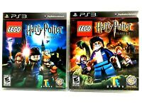 PS3 Game Lot of 2 Games Lego Harry Potter Years 1-4 & Years 5-7 Complete MINT