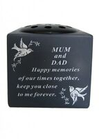 Memorial Cemetery Dove Bird Graveside Flower Holder Pot Grave Sentimental Vases