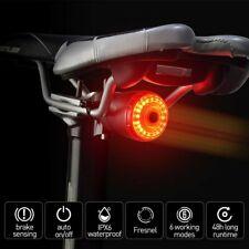 Kit Luce Posteriore Per Bici A LED Ricaricabile USB Faro Fanale Tondo Corsa MTB