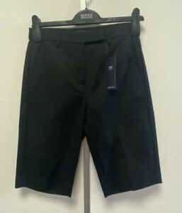 NEW! M&S Marks & Spencer UK6 UK8 black tailored cotton-rich shorts with stretch