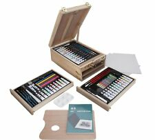 Portable Art Chest Painting And Sketching Tools For Budding Artists 94 Pieces