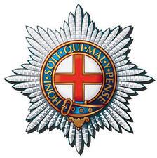 Incorniciato Britannico Militare INSIGNIA Print-Coldstream Guards (Cappello Distintivo Esercito ART)