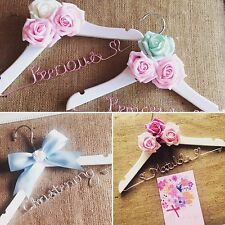 Lovely Children's Personalised Wedding/Christening Hanger Any Name ❤