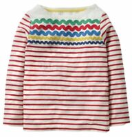 Girls Ex Mini Boden Rainbow Breton T-Shirt Red Stripe Age 2-12 Yrs RRP £20