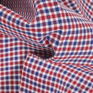 NWOT Brooks Brothers Red White Blue Dotted Inset Gingham Check Pocket Square NR