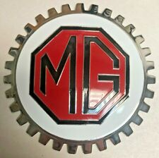 NEW Indoor/Outdoor MG MGB Badge/Emblem- Adhesive Backed- Chromed Brass