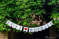 JUST MARRIED flag Wedding Banner Party Bunting Decoration car Sign Photo Prop