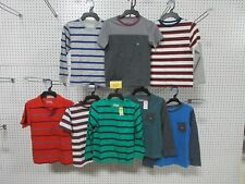 8 YOUTH BOYS CLOTHING T-SHIRT TOP 6-7 SMALL SM BASIC EDITIONS COLLAR V-NECK