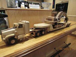 Semi  Tractor  Trailer,Truck Car Hauler,Tracker Trailer Car Hauler Toy Wood Truck Army.Wood Tractor Trailer Wood Toy Truck Wood Toy Car