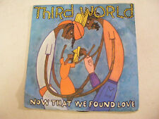 "THIRD WORLD Now That We Found Love   Island UK 1978 P/S 7"""
