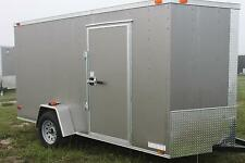 6x12 Enclosed Cargo Trailer Utility Motorcycle V-Nose 7 Landscape  BETTER BUILT