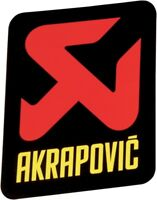 AKRAPOVIC Vinyl Decal Sticker x2 (pair) 47x60mm