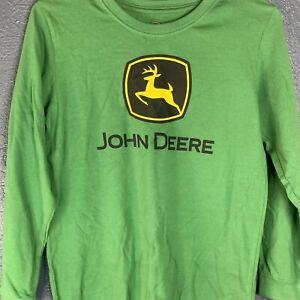 John Deere Youth Logo Long Sleeve Shirt Green - Size Medium 10/12