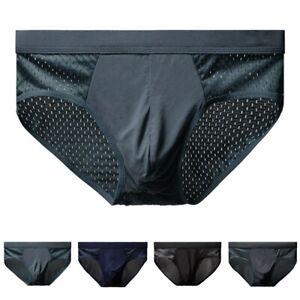 Atmungsaktiv Unterhose Slip Eis Seide L-3XL Übergröße Sexy Shorts Weich Badehose
