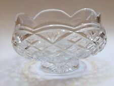 "Waterford Crystal Large 7"" Footed Fruit Serving Bowl"