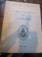 SCARCE A OBRA ESPANHOLA DE CAMOES BY A.V. DE LEMOS PORTO EDN 1959 RARE!