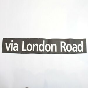 Via London Road Bus blind destination vintage printed West Midlands 1994