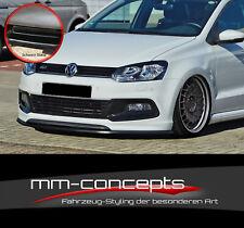 Cup Spoiler Lip Black for VW Polo V 5 6C R LINE FRONT SPOILER Sword ABS