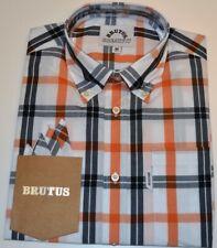 Mens ORIGINAL Brutus GREATFIT Button Down Shirt L Mod Skinhead Retro Lambretta