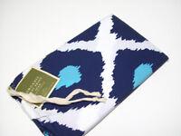 Pottery Barn Organic Cotton Multi Colors Ikat Print Blue Euro Pillow Cover Sham