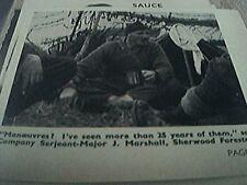 ephemera 1953 british army serjeant major j marshall sherwoods