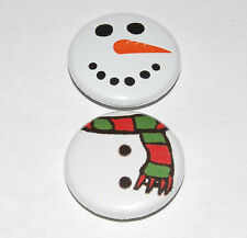 CHRISTMAS SNOWMAN Button Badge Set 25mm / 1 inch CUTE XMAS FESTIVE