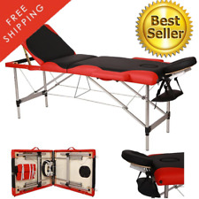 Folding Aluminum Tube Spa Massage Table Fold Build In Carrying Bag Case