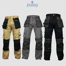 Men's Heavy Duty Workwear Pants Cordura Reinforcement Warehouse Safety Trousers