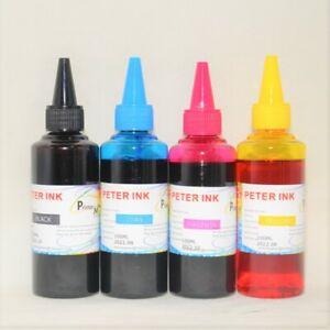 4X100ML Regular Dye ink refills alternative for Eco Tank ET ST Printer