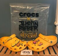 Details about  /Crocs x Justin Bieber with Drew Classic Clog Crocs Men/'s Size 7M//9W *IN HAND*