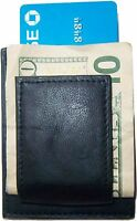new leather money clip Credit card/ID holder wallet with a magnetic money clip