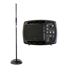 Ibiza Sound MS5150 Active Monitor Foldback Speaker Band PA inc Stand