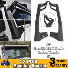 "52"" LED Light Bar Upper Windshield Mounting Brackets for Jeep Wrangler JK 07-17"