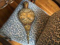 Antique English Wood & Brass Bellows