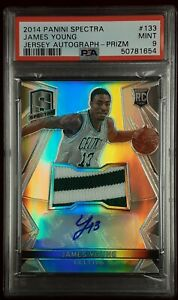 James Young 2014 Panini Spectra Jersey Autograph Prizm Card #133