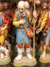 1 pastore anziano barba landi 10 cm pastori,presepe shepherd crib crèche berge