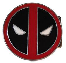 "Marvel Comics DEADPOOL Logo Enamel Finish Metal 3"" Diameter BELT BUCKLE"