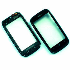 ORIGINALE Nokia Lumia 610 Front Frame + DIGITIZER TOUCH SCREEN VETRO + CORNICE + FLEX N610