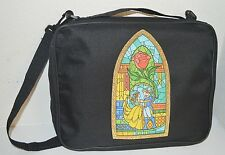 TRADING PIN BAG FOR DISNEY PINS BELLE BEAUTY AND THE BEAST STAINED GLASS BOOK