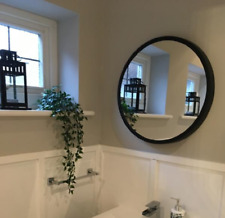 New Traditional Looking Round Wall Mirror With Stunning Black Thin Border