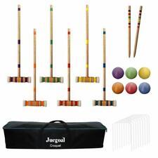 Croquet Play Set Mallets Wickets Balls