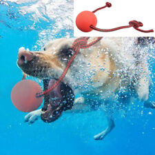 Aggressive Chew Toys for Large Dogs Indestructible Pet Rubber Floating Rope Ball