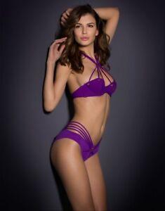 Agent Provocateur Purple Kimmi Bikini top 32D bottoms AP 3